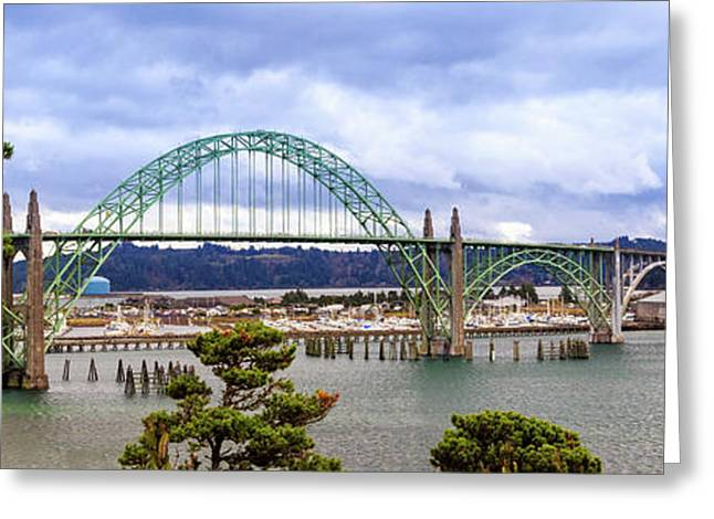 Yaquina Bay Bridge Panorama Greeting Card