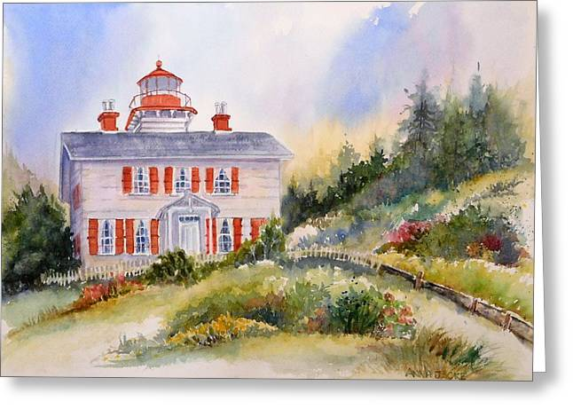 Yaquina Bay Light Greeting Card