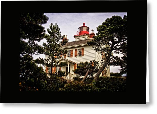 Yaquina Bay Lighthouse Two Greeting Card by Thom Zehrfeld