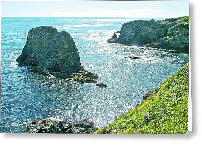 Yaquina Head Coast In Yaquina Head Outstanding Natural Area In Newport, Oregon Greeting Card