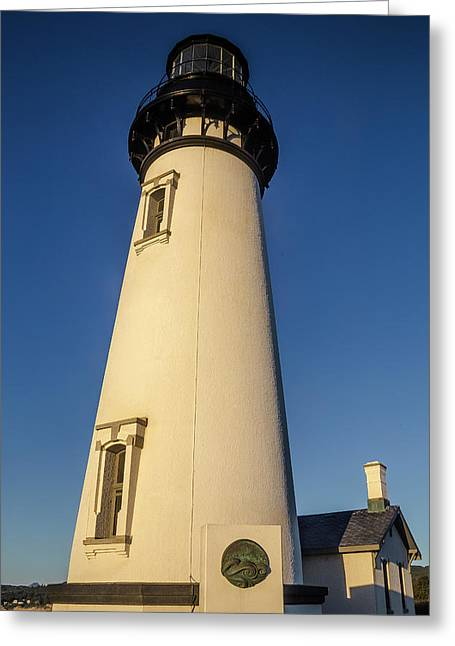 Yaquina Head Lighthouse Building Greeting Card by Garry Gay
