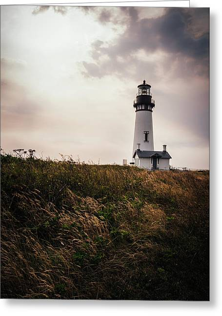 Yaquina Head Lighthouse, Oregon Greeting Card by James Unkov