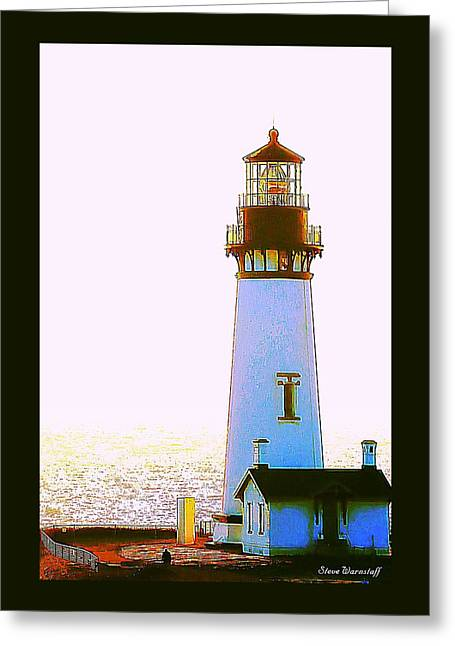 Yaquina Head Lighthouse Greeting Card by Steve Warnstaff