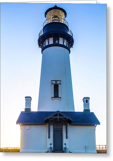 Yaquina Head Lighthouse Usa Greeting Card by Garry Gay
