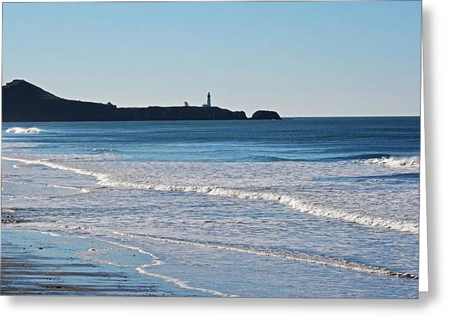 Yaquina Lighthouse And The Pacific Greeting Card