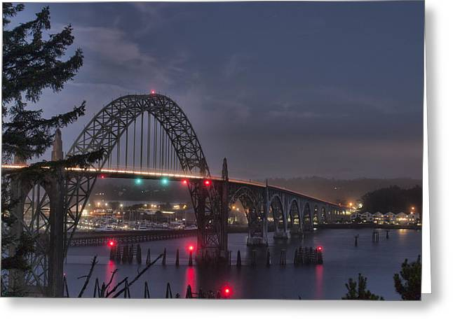 Yaquina Night Crossing Greeting Card