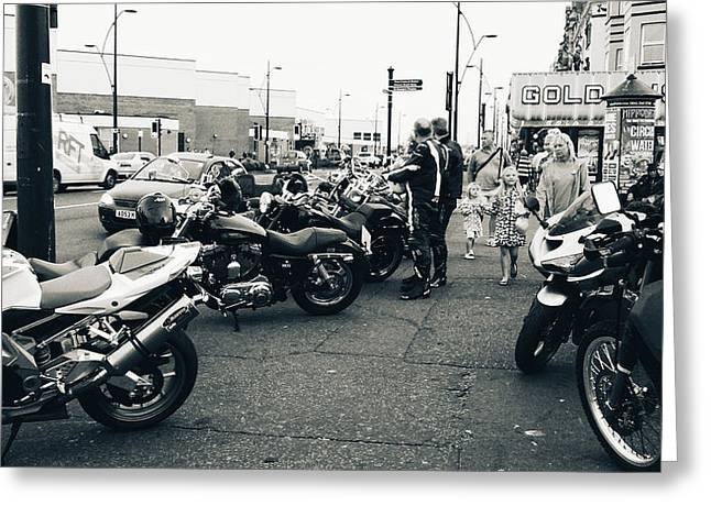 Yarmouth Bikers Greeting Card