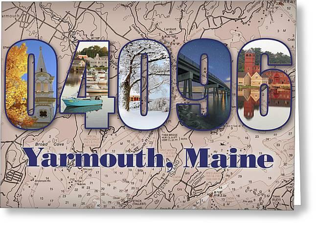Yarmouth, Maine Zip Code Greeting Card