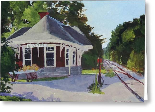 Yarmouth Station - Art By Bill Tomsa Greeting Card