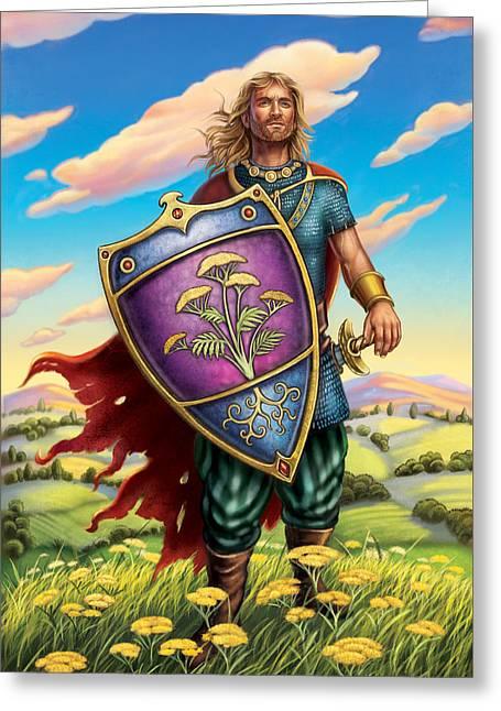 Yarrow - Protective Shield Greeting Card