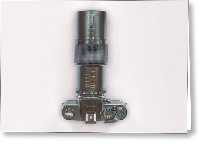 Yashica Fx-3 With 90mm Lens Greeting Card
