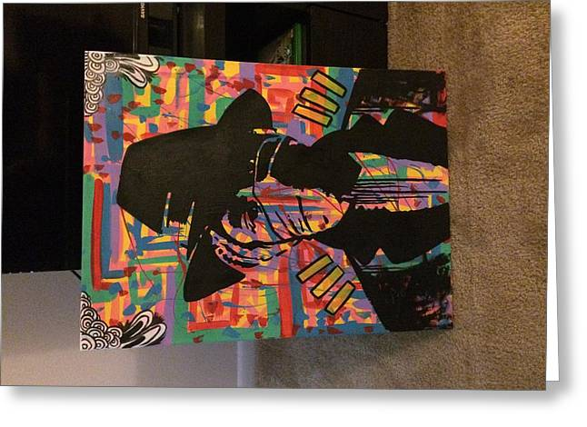 Yasiin Bey Aka Mos Def Canvas Painting Greeting Card by Landon Oliver