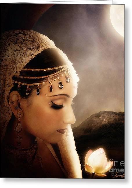Yasodhara Greeting Card by Jennifer Gelinas