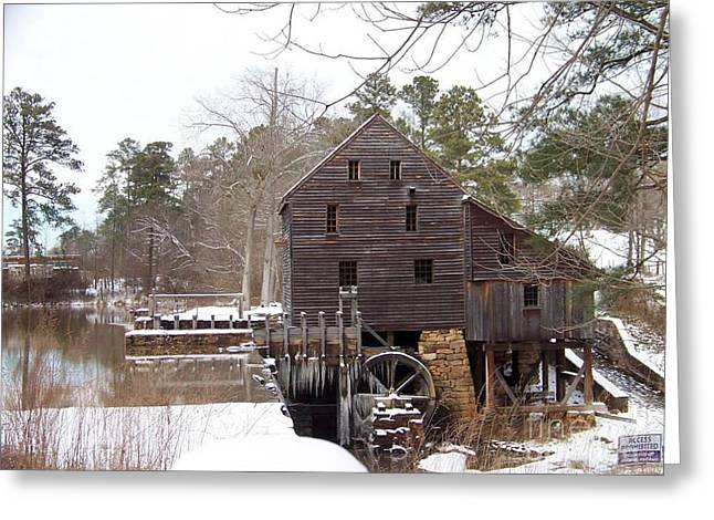 Yates Mill In Winter Greeting Card
