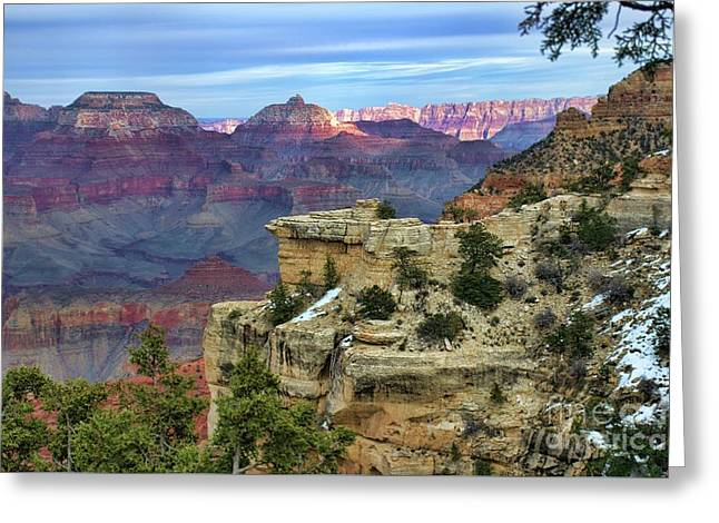 Yavapai Point Sunset Greeting Card