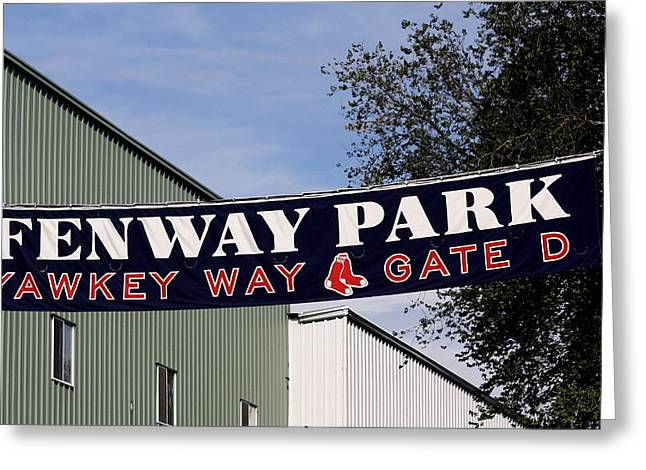 Yawkey Way II Greeting Card by Greg DeBeck
