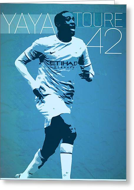 Yaya Toure Greeting Card by Semih Yurdabak