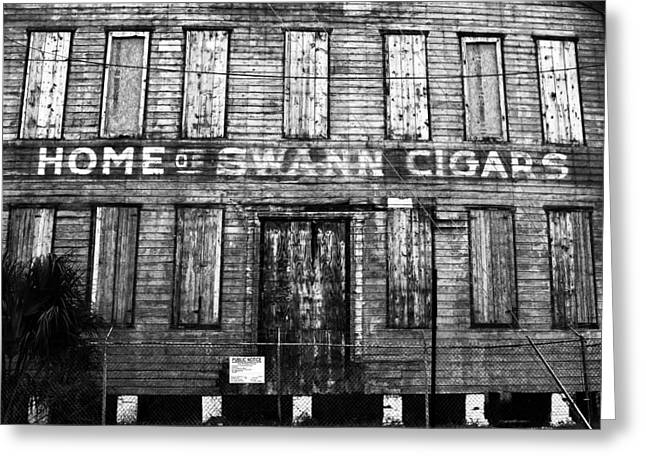 Home Of Swann Cigars Greeting Card