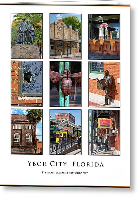 Ybor City Poster Greeting Card by Stephanie Hayes