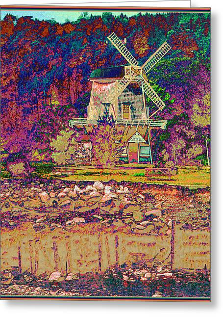 Ye Old Windmill Greeting Card by Russ Mullen