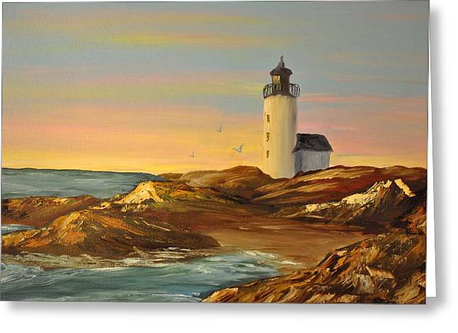 Ye Olde Lighthouse Greeting Card by James Higgins