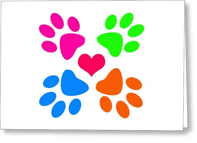 Greeting Card featuring the digital art Year Of The Dog by Zaira Dzhaubaeva