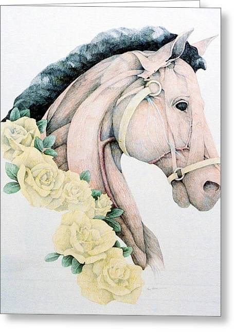 Anatomical Drawings Greeting Cards - Year of The Horse Greeting Card by Tara Peterson