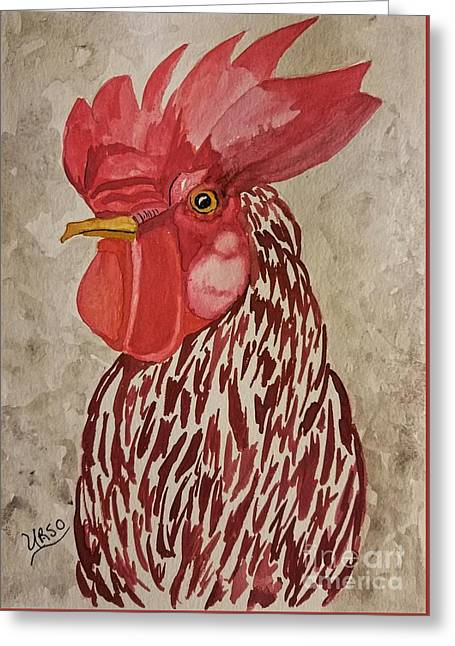 Year Of The Rooster 2017 Greeting Card