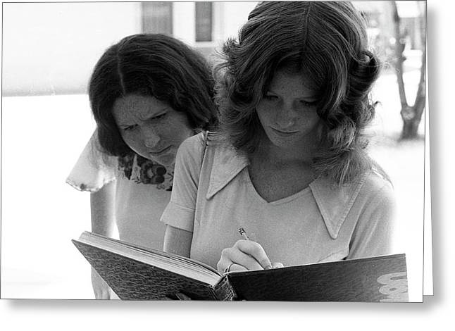 Yearbook Signing, 1972, Part 1 Greeting Card