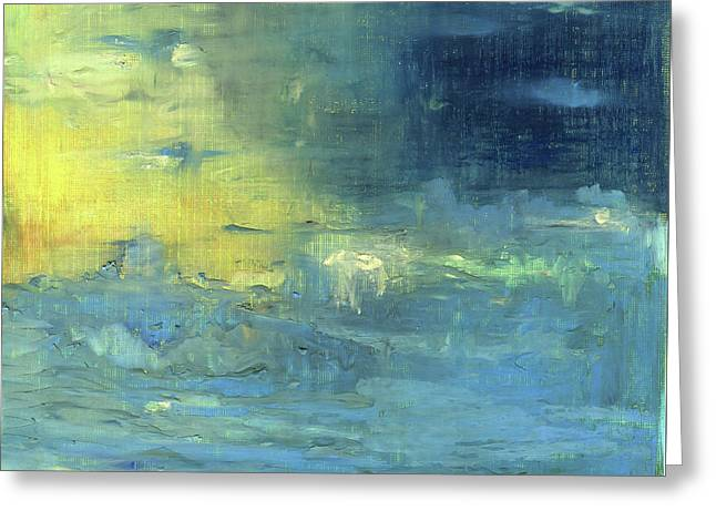 Greeting Card featuring the painting Yearning Tides by Michal Mitak Mahgerefteh