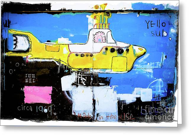 Yello Sub Graffiti Greeting Card by Colleen Kammerer