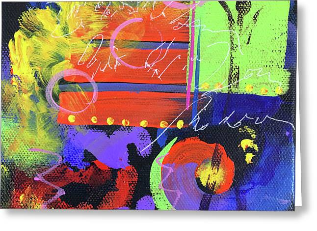 Red Abstract Greeting Card