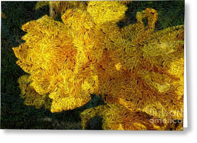 Yellow Abstraction Greeting Card