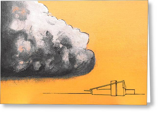 Yellow Alex Dark Cloud Greeting Card