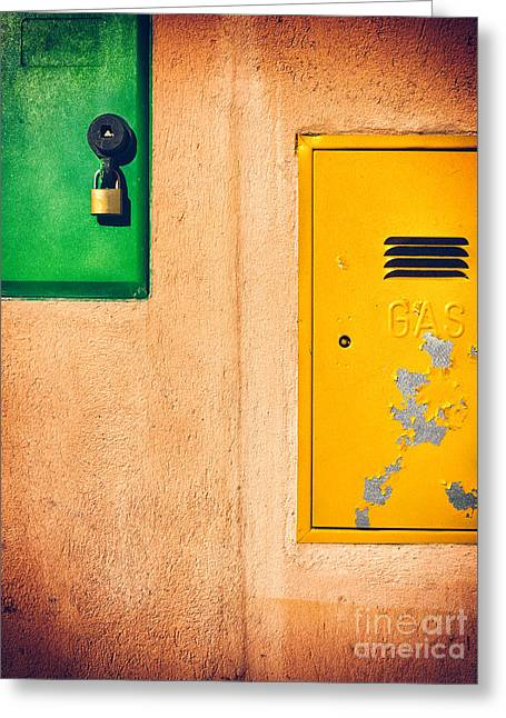 Greeting Card featuring the photograph Yellow And Green by Silvia Ganora