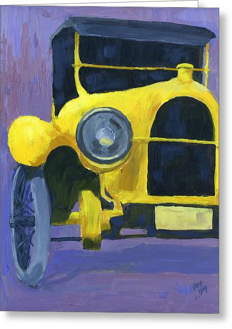 Yellow Antique Greeting Card