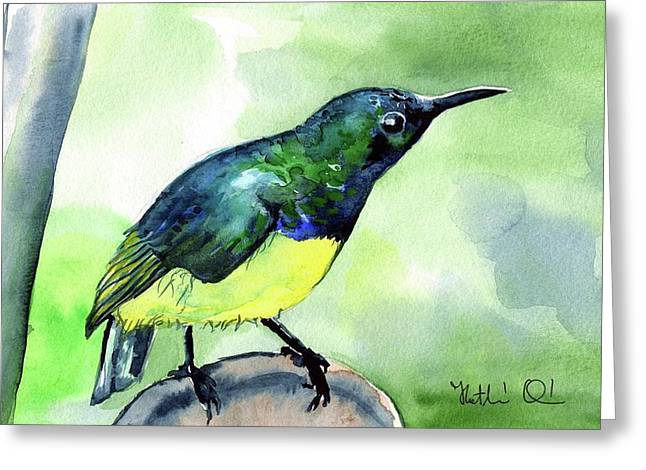 Yellow Bellied Sunbird Greeting Card