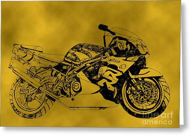 Yellow Bike Greeting Card