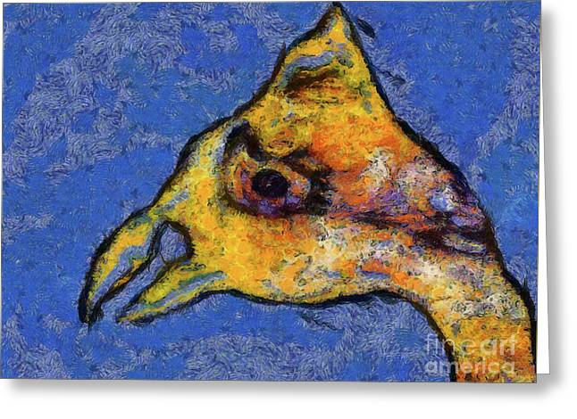 Greeting Card featuring the digital art Yellow Bird by Claire Bull