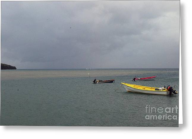 Greeting Card featuring the photograph Yellow Boat by Gary Wonning