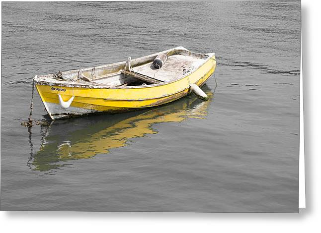 Yellow Boat Greeting Card