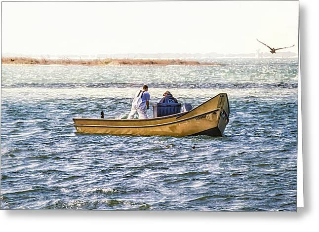 Yellow Boat - Greeting Card