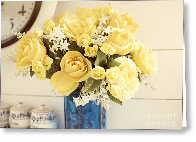 Yellow Bouquet Of Flowers Greeting Card by Juli Scalzi