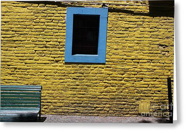 Yellow Brick Window Greeting Card