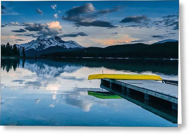 Yellow Canoe Greeting Card