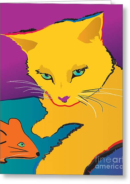 Yellow Cat Greeting Card