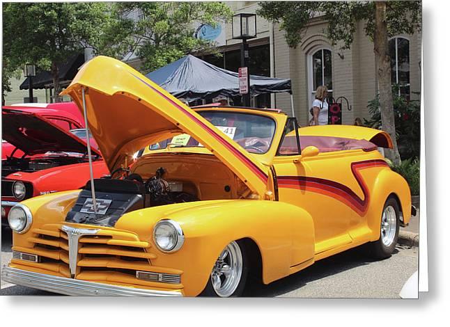 Yellow Chevy Greeting Card by Carolyn Ricks