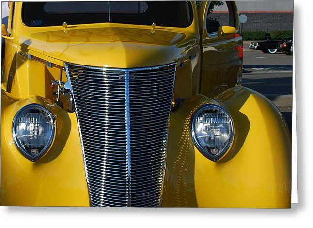 Yellow Coupe Greeting Card by William Thomas