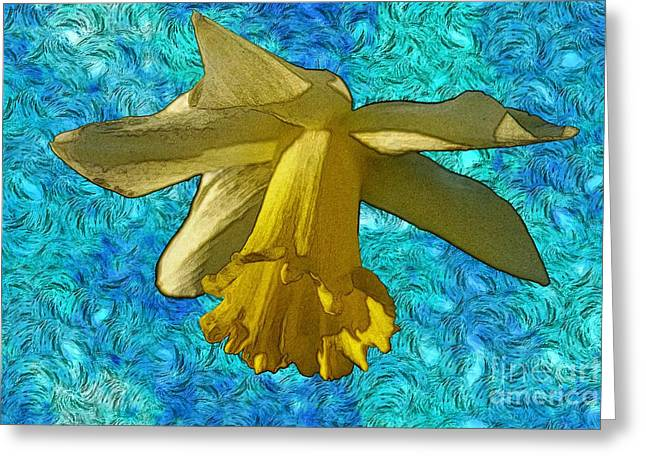 Yellow Daffodil 3 Greeting Card by Jean Bernard Roussilhe