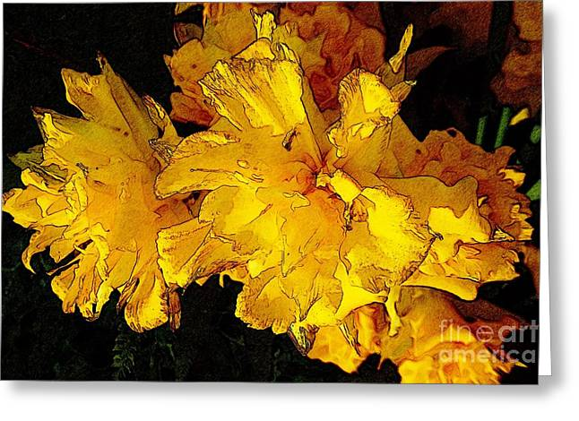 Yellow Daffodils 4 Greeting Card by Jean Bernard Roussilhe